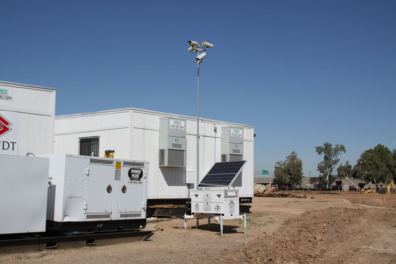 Eyesites mobile surveillance setup on a construction site