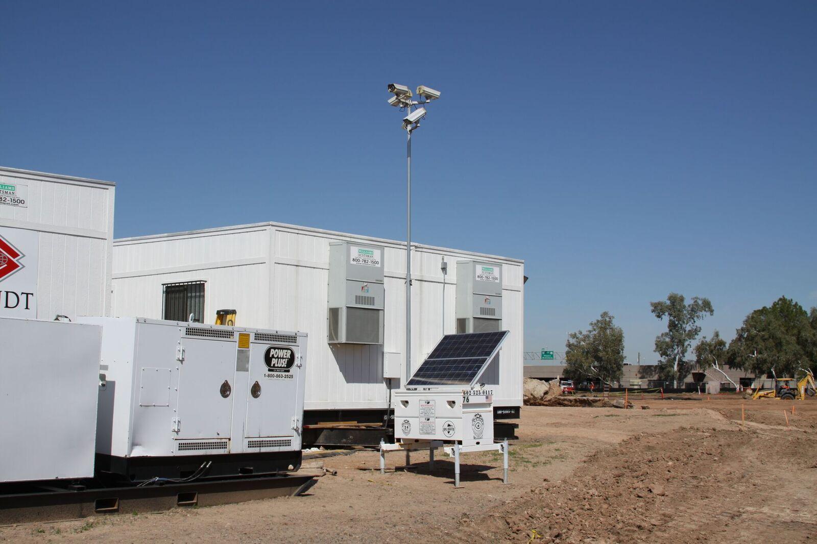 Eyesites mobile surveillance setup on a construction site
