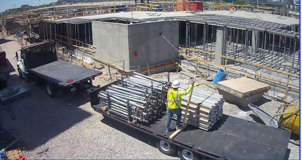mobile video surveillance of construction site