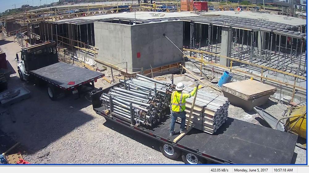 mobile video surveillance of construction site