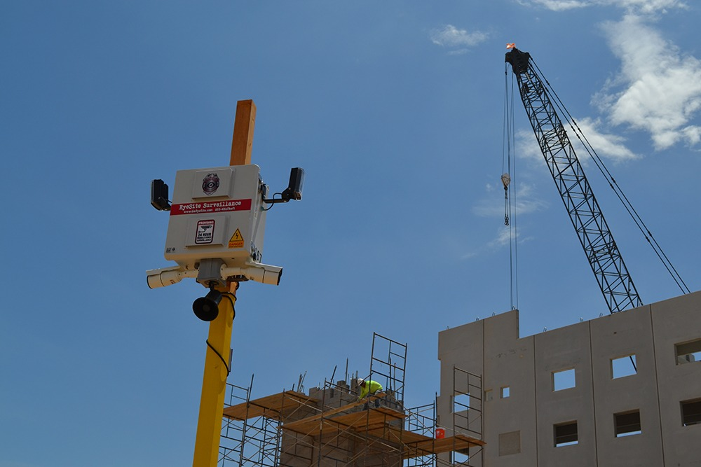 Construction site security set up