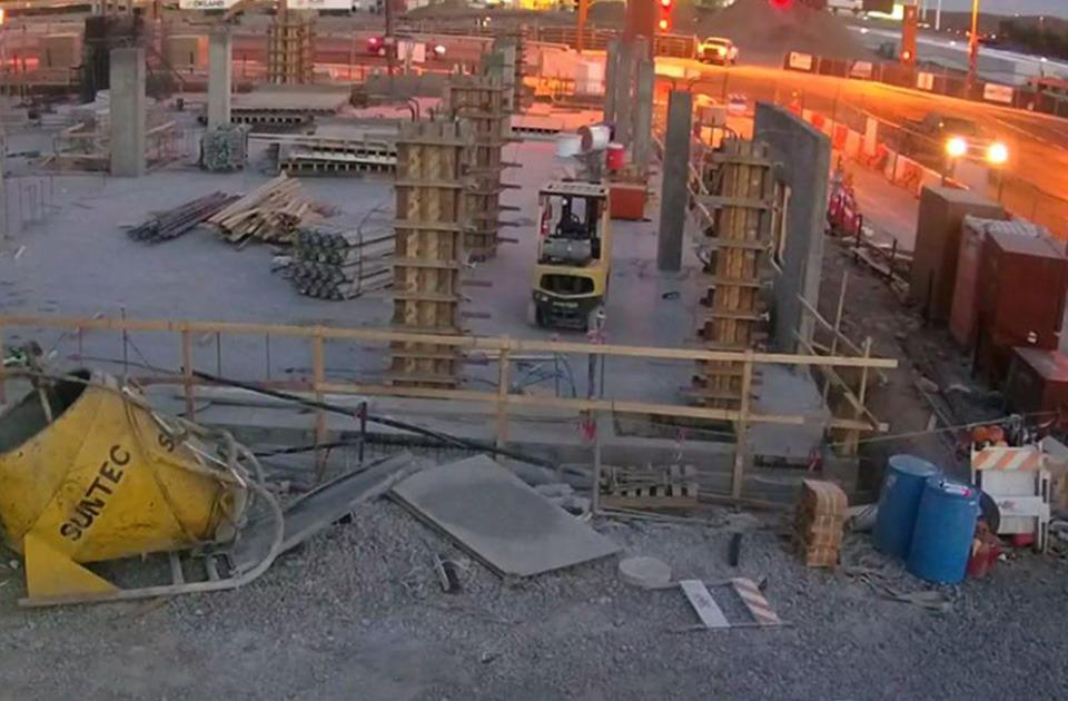 surveillance camera view of construction site