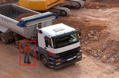 Video Analytics Camera view of Job Site